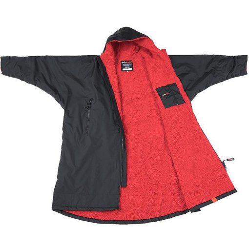 Dryrobe Long Sleeve Advance - Svart/Röd