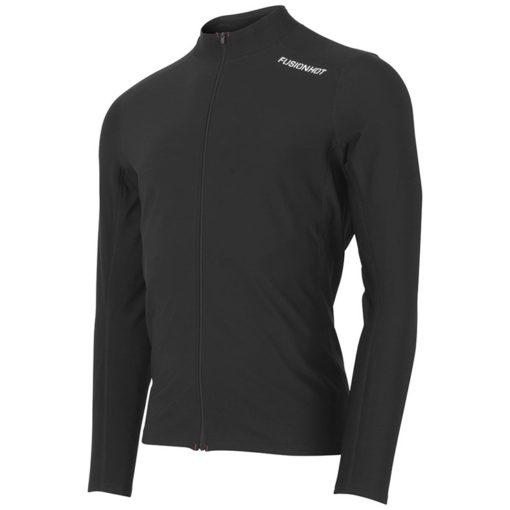 Fusion Mens Hot Zip Run Shirt