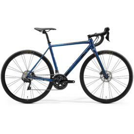 Landsvägscykel Merida Mission Road 400 - Blue Black