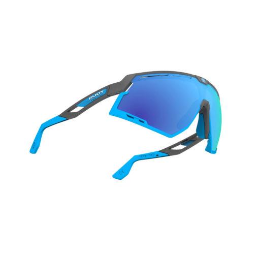 Rudy Project Defender Pyombo Matte - RP Optics Multilaser Blue