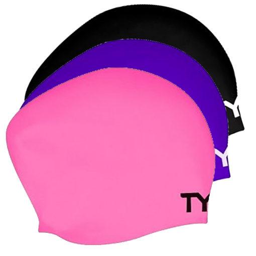 TYR Long Hair Swim Cap - Badmössa för långt hår