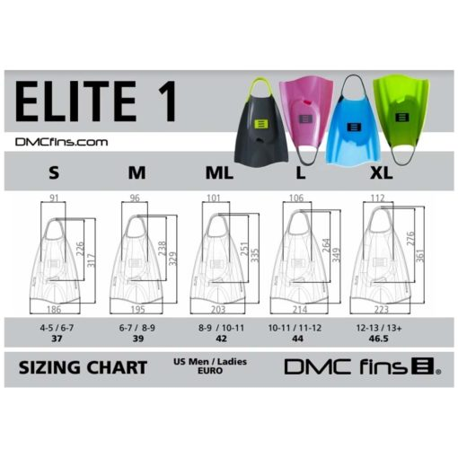 DMC Elite Simfenor - Storleksguide