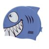 Zoggs Silikon Badmössa Swim Cap Blå haj